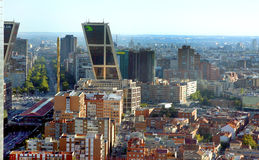 Madrid Spain. Madrid is the capital city of Spain Europe Kio tower Stock Photos
