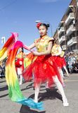 Madrid, Spain, Chinese New Year parade in the neighborhood of Us stock photo