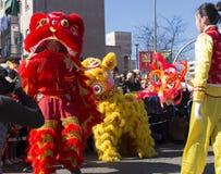 Madrid, Spain, Chinese New Year parade in the Usera neighborhood stock photo