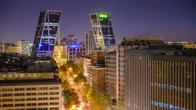 Madrid, Spain Cityscape in the Financial District stock video footage