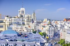 Madrid, Spain Cityscape Royalty Free Stock Photo
