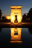 Madrid, Spain. Debod.  Ancient Egyptian temple. Royalty Free Stock Photo