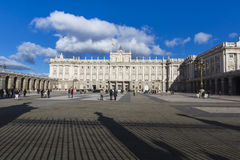 MADRID, SPAIN - DECEMBER 06, 2014: Royal Palace in Madrid Stock Image