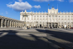 MADRID, SPAIN - DECEMBER 06, 2014: Royal Palace in Madrid Stock Images