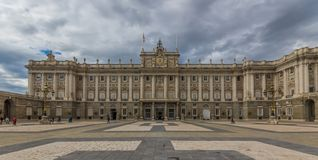 The wonderful Royal Palace of Madrid, Spain royalty free stock photo