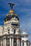 Madrid (Spain) / Famous Statue / Gran Via Royalty Free Stock Photography