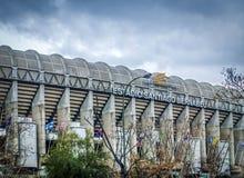 Exterior of the Santiago Bernabeu stadium in Madrid, the home of Real Madrid soccer team. Madrid, Spain, february 2010: Exterior of the Santiago Bernabeu stadium stock images