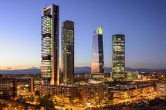 Madrid, Spain Financial District Royalty Free Stock Photography