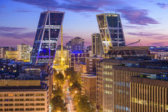 Madrid, Spain Financial District Stock Photography