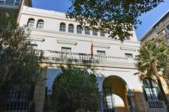 Facade of Museum Sorolla in City of Madrid, Spain. MADRID, SPAIN - JANUARY 21, 2018: Facade of Museum Sorolla in City of Madrid, Spain stock images