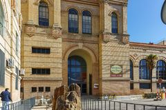 MADRID, SPAIN - JANUARY 21, 2018: National Museum of Natural Sciences at Paseo de la Castellana street in City of Madrid,. Spain stock photo