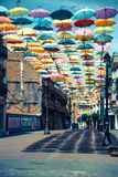 Madrid,Spain 25 July,2014 Background colorful streets decoration Stock Image