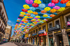 Madrid,Spain 25 July,2014 Background colorful streets decoration Stock Photo
