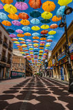 Madrid,Spain 25 July,2014 Background colorful streets decoration Royalty Free Stock Photo