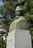 A bust of Mariano Jose de Larra in Madrid. Stock Photos