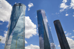 MADRID, SPAIN - July 22, 2014: Madrid city, business centre, modern skyscrapers Royalty Free Stock Photos