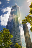 MADRID, SPAIN - July 22, 2014: Madrid city, business centre, modern skyscrapers Stock Images