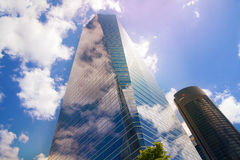 MADRID, SPAIN - July 22, 2014: Madrid city, business centre, modern skyscrapers Stock Photography