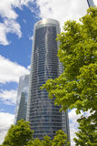 MADRID, SPAIN - July 22, 2014: Madrid city, business centre, modern skyscrapers Stock Image