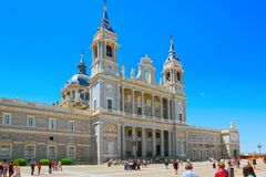 Almudena Cathedral Catedral de Santa Maria la Real de la Almude Royalty Free Stock Images