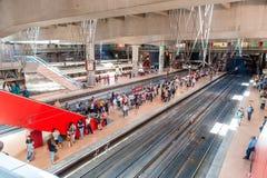 MADRID SPAIN - JUNE 23, 2015:  Atocha Station Royalty Free Stock Photo