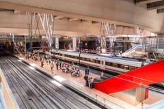 MADRID SPAIN - JUNE 23, 2015: Atocha Station royalty free stock photos