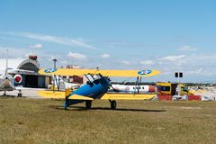 Boeing Stearman Kaydet aircraft during Air Show Stock Photography