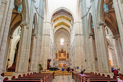 MADRID SPAIN - JUNE 23, 2015: Cathedral of Saint Mary Stock Images