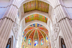 MADRID SPAIN - JUNE 23, 2015: Cathedral of Saint Mary Royalty Free Stock Images