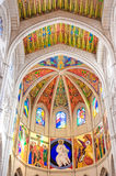 MADRID SPAIN - JUNE 23, 2015: Cathedral of Saint Mary Stock Photography