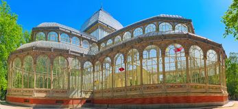 Crystal Palace Palacio de Cristal in Buen Park del Retiro Par Royalty Free Stock Photography