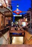 MADRID SPAIN - JUNE 23, 2015: Gran Via Metro station Royalty Free Stock Images