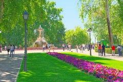 Mexico Avenue in Buen Retiro Park  Parque de El Retiro- most Royalty Free Stock Photography