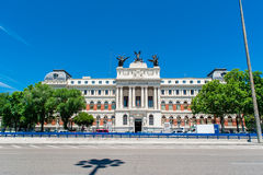 MADRID SPAIN - JUNE 23, 2015: Ministerio de Agricultura, Madrid, Spain royalty free stock images