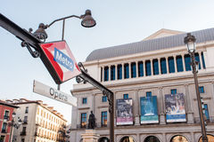MADRID SPAIN - JUNE 23, 2015: Opera Metro station stock photography
