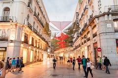 MADRID SPAIN - JUNE 23, 2015: Puerta del Sol Royalty Free Stock Images