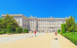 Royal Palace of Madrid  Palacio Real de Madrid is the official. Madrid, Spain - June 05,2017 : Royal Palace of Madrid  Palacio Real de Madrid is the official Stock Photography