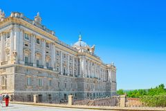 Royal Palace of Madrid  Palacio Real de Madrid is the official. Madrid, Spain - June 05,2017 : Royal Palace of Madrid  Palacio Real de Madrid is the official Stock Photos