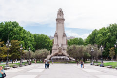 MADRID SPAIN - JUNE 23, 2015: Spain Square Stock Photography