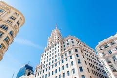 MADRID SPAIN - JUNE 23, 2015:  Spanish buildings Stock Images