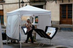 Art street market in Madrid stock photos