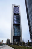 Cuatro Torres Business Area (CTBA) building skyscraper, in Madri royalty free stock photo