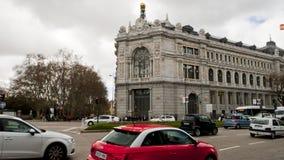 View of the Bank of Spain, Madrid. Banco de España. Stock Photo