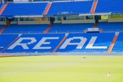 View Santiago Bernabeu football stadium royalty free stock images