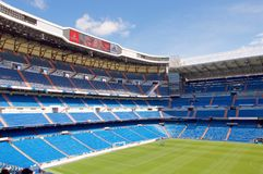 View Santiago Bernabeu football stadium royalty free stock image
