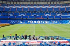 View Santiago Bernabeu football stadium stock photography