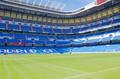 View Santiago Bernabeu football stadium stock images