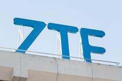 ZTE logo on ZTE building royalty free stock image