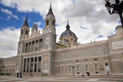 MADRID, SPAIN - MAY 28, 2014: Cathedral Santa Maria Royalty Free Stock Photos
