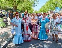 Chulapas honours its patron at festivity of San Isidro. Madrid. Royalty Free Stock Photography